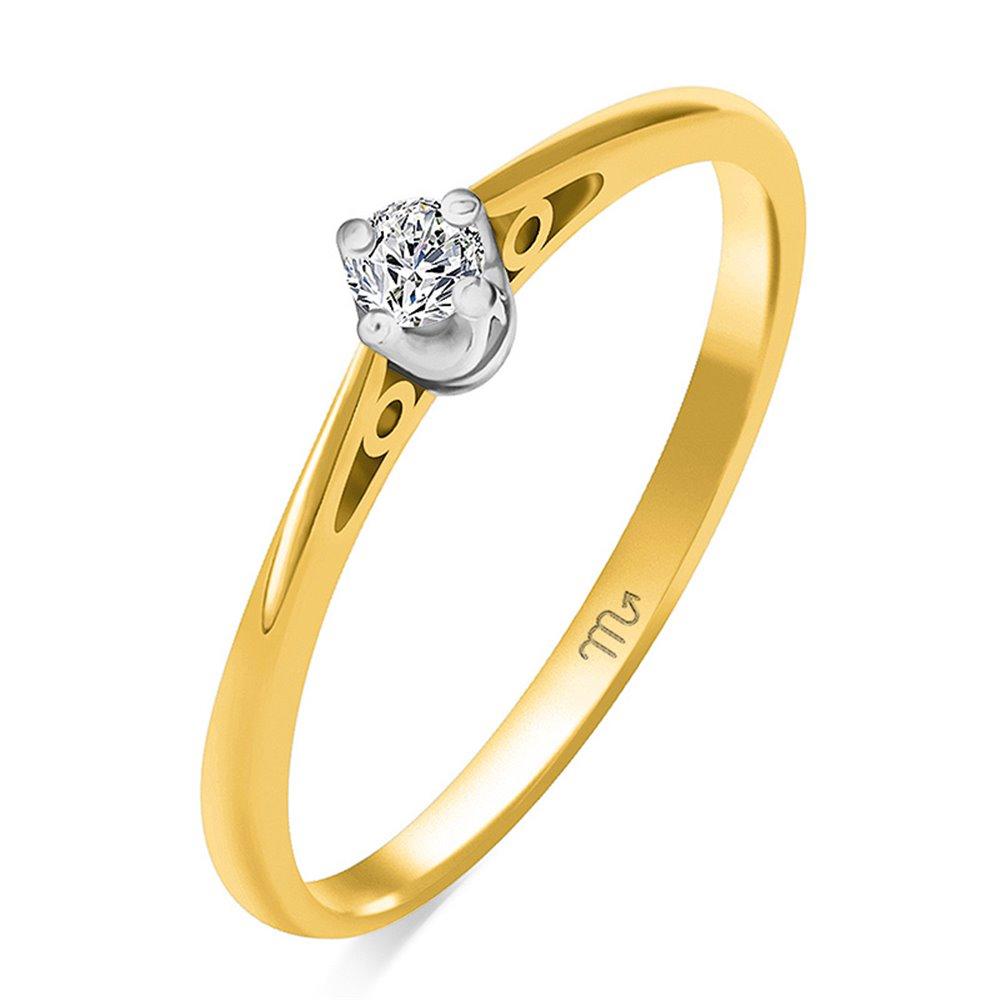 Pierścionek zaręczynowy z diamentem P Z 112