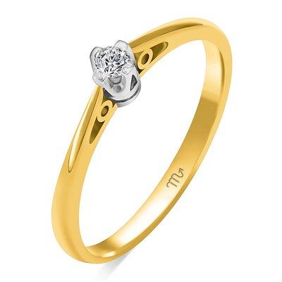 Pierścionek zaręczynowy z diamentem P Z 111