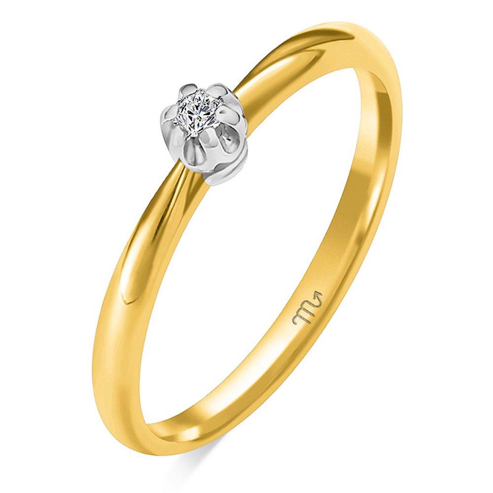 Pierścionek zaręczynowy z diamentem P Z 93