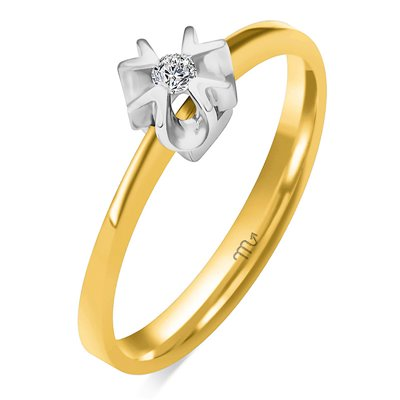 Pierścionek zaręczynowy z diamentem P Z 99