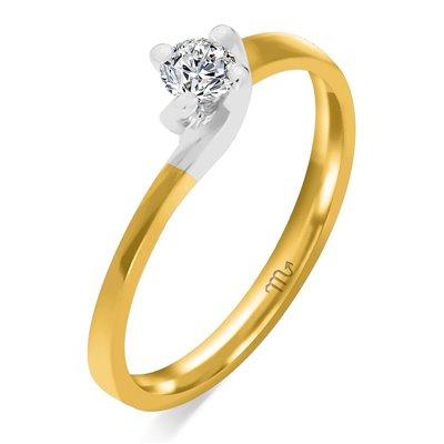 Pierścionek zaręczynowy z diamentem P Z 28