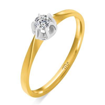 Pierścionek zaręczynowy z diamentem P Z 35