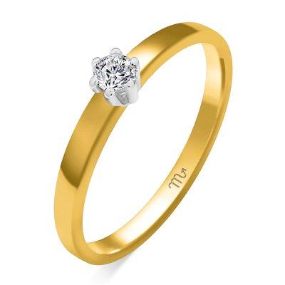Pierścionek  zaręczynowy z diamentem  P Z 38