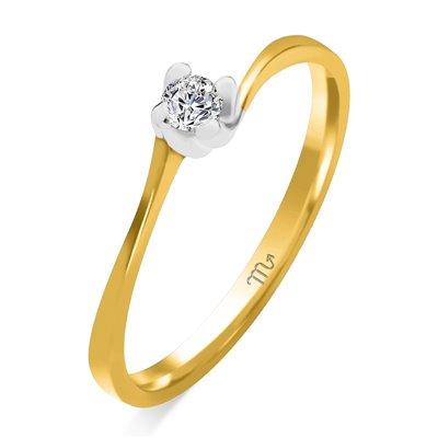 Pierścionek zaręczynowy z diamentem P Z 39