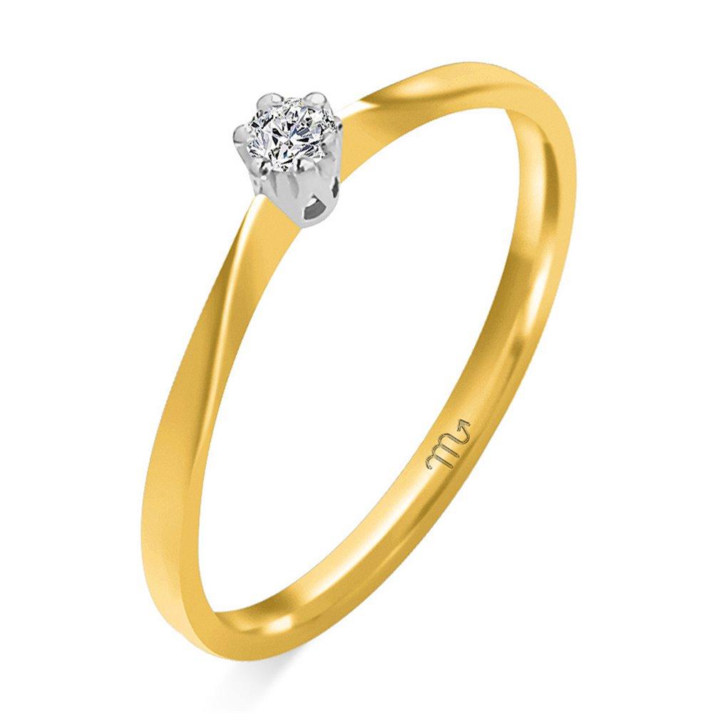 Pierścionek  zaręczynowy z diamentem P Z 47