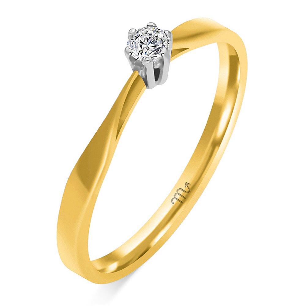Pierścionek  zaręczynowy  z diamentem  P Z 53