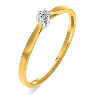 Pierścionek  zaręczynowy  z diamentem  P Z 54