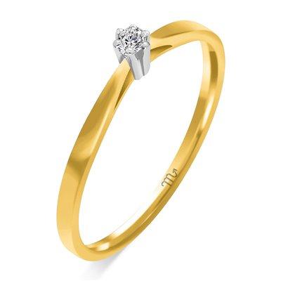 Pierścionek  zaręczynowy  z diamentem  P Z 56