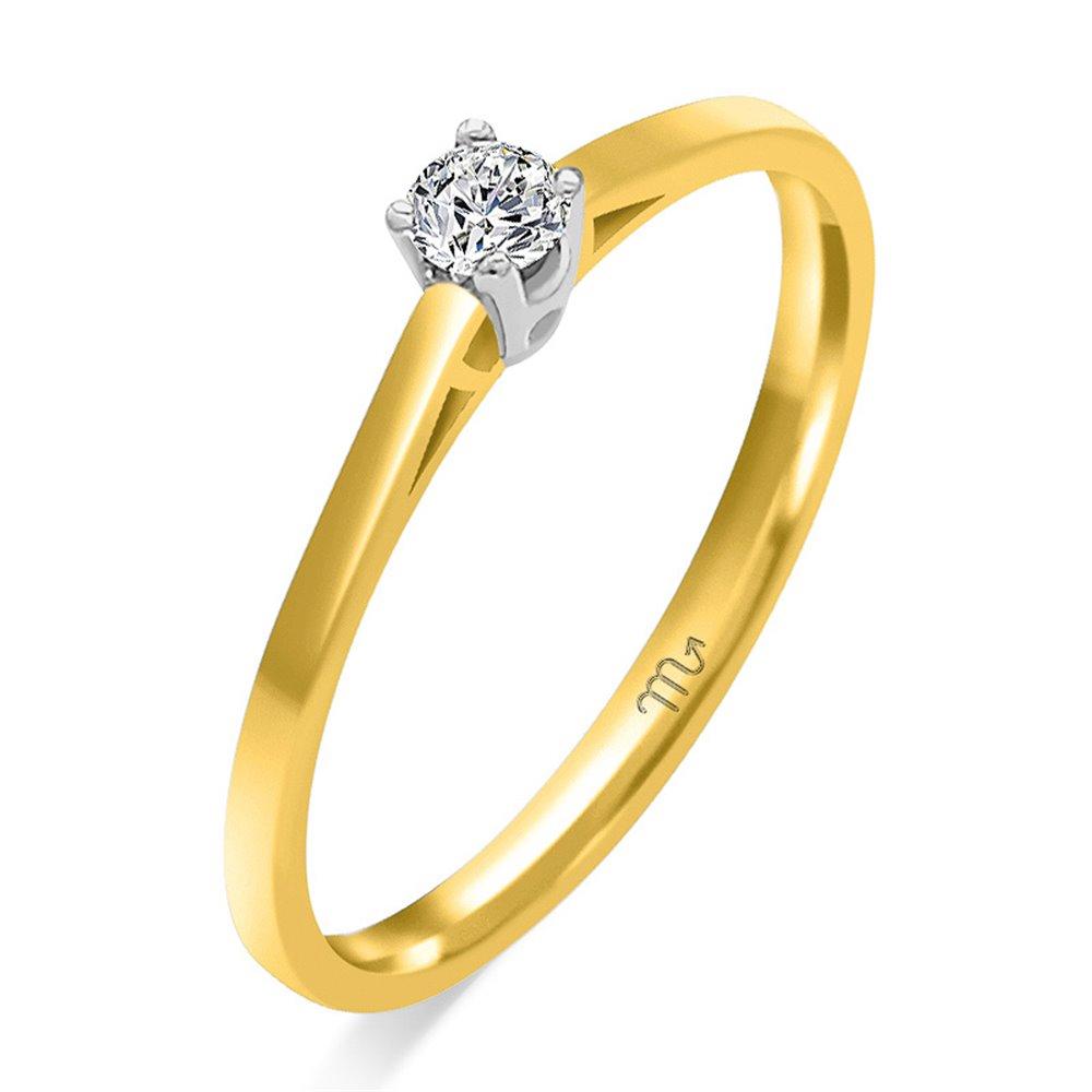 Pierścionek  zaręczynowy  z diamentem  P Z 57