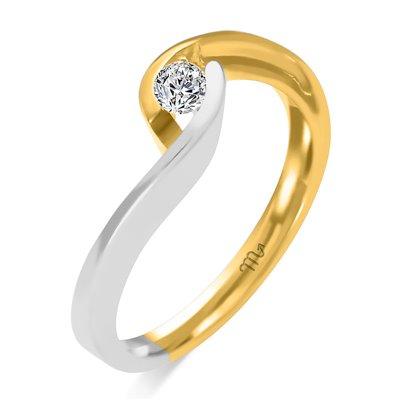 Pierścionek  zaręczynowy z diamentem  P Z 72