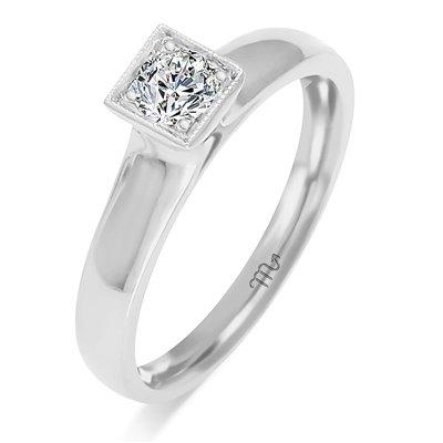 Pierścionek  zaręczynowy z diamentem  P Z 82