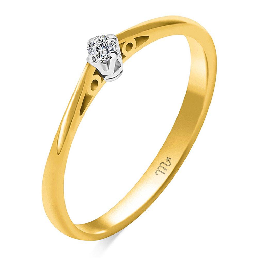 Pierścionek  zaręczynowy z diamentem  P Z 110