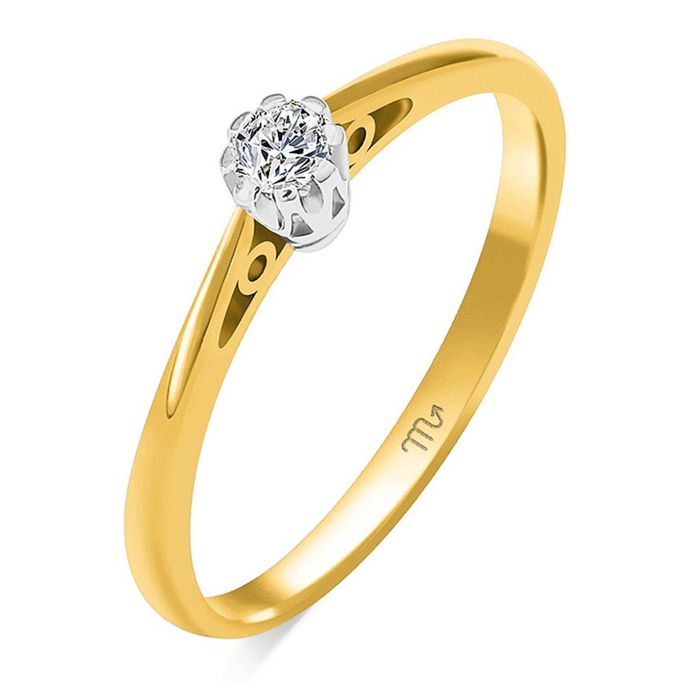 Pierścionek  zaręczynowy z diamentem  P Z 113