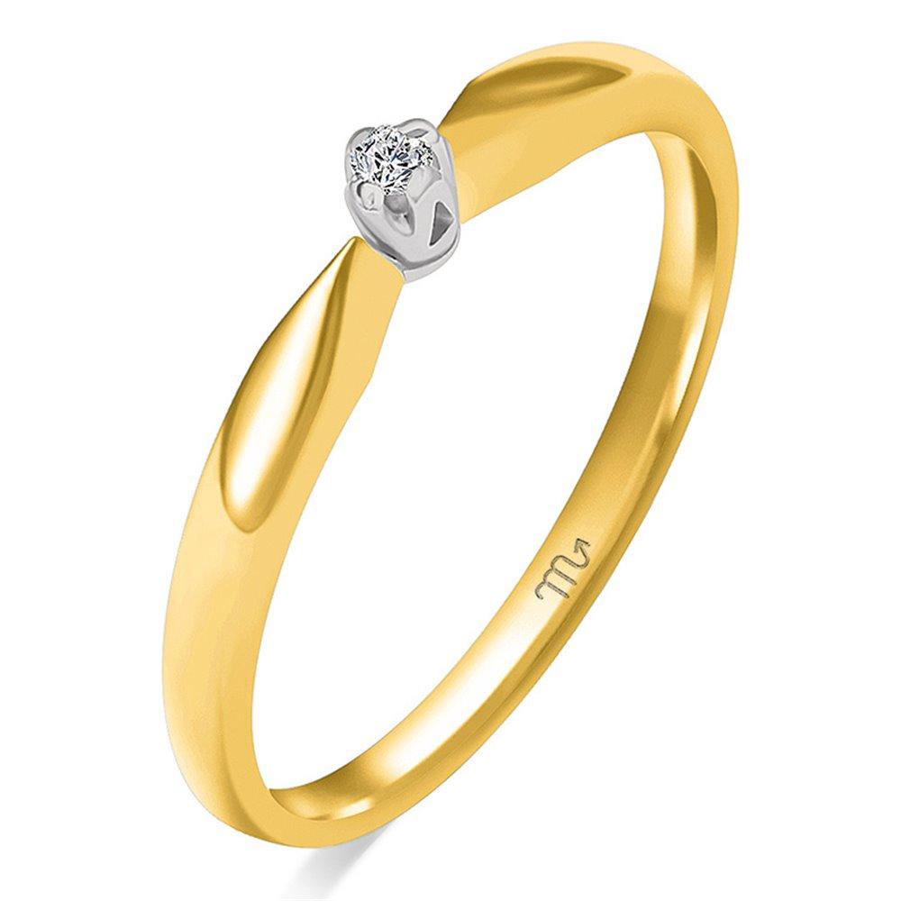 Pierścionek  zaręczynowy z diamentem  P Z 104
